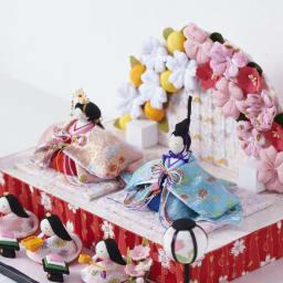 〈京都龍虎〉ちりめん舞桜雛飾り