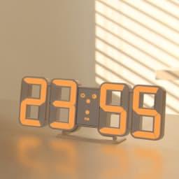LED時計 シックなデザインで部屋をモダンな雰囲気を演出