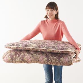 軽くてしっかり!!フランス羊毛混3つ折り敷布団 写真