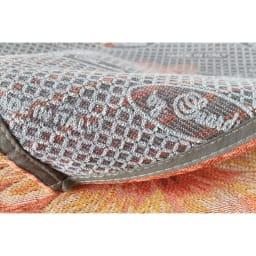 イタリア製ジャカード織 トイレマット〈アネモネ〉 約65×90cm 裏面は滑りにくい加工