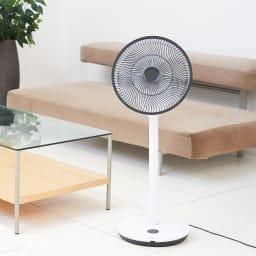 デュクス扇風機 Whisper Flex Touch (羽根直径:27センチ) トールサイズ使用時(ア)ホワイト