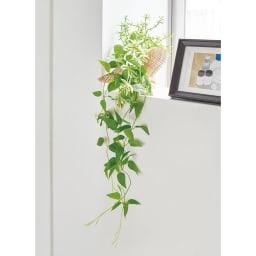 ピンで飾れる エコストーン入り ミニグリーン スワッグ 単品 トイレや洗面所のカウンター、飾り棚に置いて飾れます。