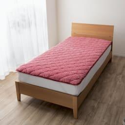 布団の老舗・西川 毛布仕立て敷きパッド(シングル) (ア)ピンク