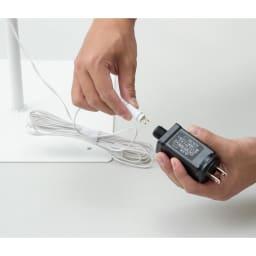 屋内外兼用 LEDツリー(奥行25cm) 電源を挿し込むだけ。