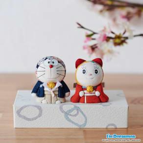 〈幸一光〉ドラえもん&ドラミちゃん人形 写真