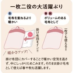 布団の老舗・西川 毛布仕立て布団カバー(ダブル)