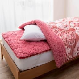 布団の老舗・西川 毛布仕立て布団カバー(ダブル) (ア)ピンク ※お届けは布団カバーです。敷きパッドは別売りです。
