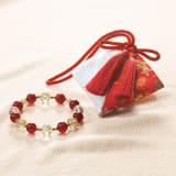 京念珠師 中野伊助 謹製 本水晶宝飾念珠ブレスレット 慶香 名入れ 写真