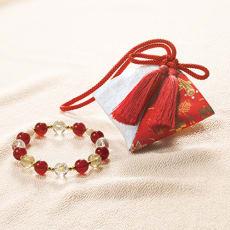 京念珠師 中野伊助 謹製 本水晶宝飾念珠ブレスレット 慶香 名入れ