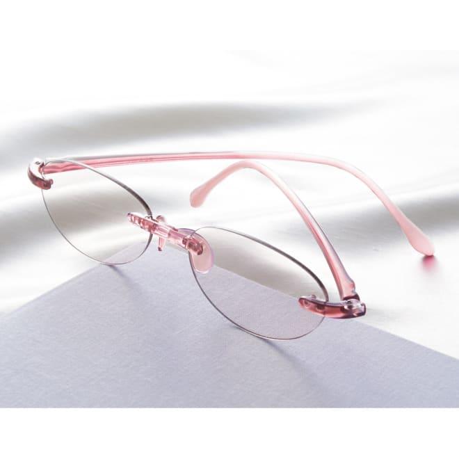 サンリーダーリーディンググラス (ブルーライトシニア) UVカット率 約99.0% (ア)ピンク