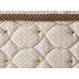 フランスベッド BOX引き出し付ベッド マルチラススプリングマットレス(レギュラーマット)付き マットレスの側面には湿気を逃がす空気孔付き。