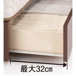 フランスベッド BOX引き出し付ベッド マルチラススプリングマットレス(レギュラーマット)付き スムーズな開閉のスライドレール付き。ホコリの侵入を防ぐBOXタイプ。