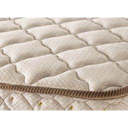 フランスベッド BOX引き出し付ベッド マルチラススプリングマットレス(レギュラーマット)付き 高級感のある質感、表情をみせる魅力のジャカード織。