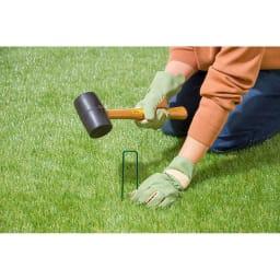 人工芝 固定用のU字杭付き