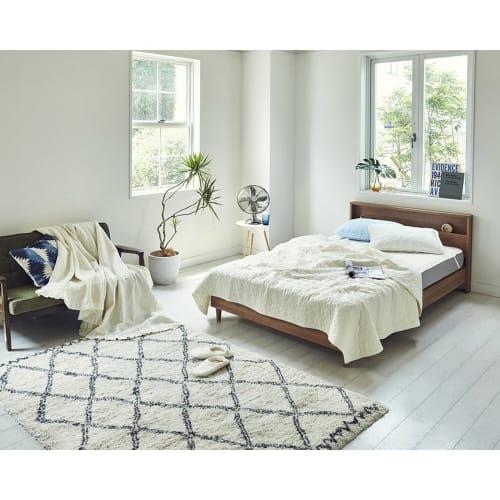 【セミダブル】フランスベッド LED照明コンセントマットレス付ベッド 画像