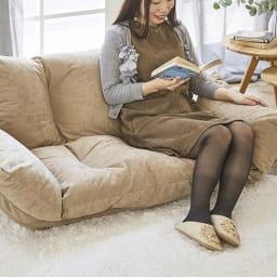 北欧リクライニングソファ ふっくらした座り心地で、長く座っても疲れません。