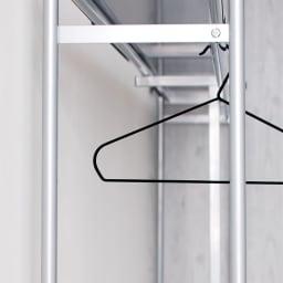 奥行30cm突っ張りハンガー ロータイプ 幅111~200cm 奥行30cmなら寝室や納戸にも設置できます。