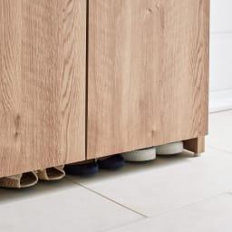 調湿機能のモイス付きシューズボックス 幅90cm・高さ181cm(ハイタイプ) さっと隠せるのに通気性もいい!