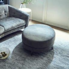 Vaguere/バーグレイ スチールデザインソファ オーバルスツール