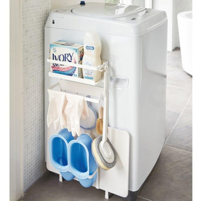 洗濯機横マグネット収納