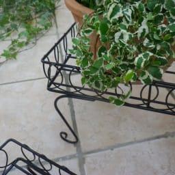 長方形花台ラック2点セット