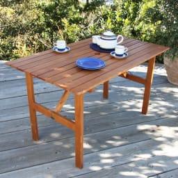 スタンダードガーデンファニチャー 4点セット(テーブル+チェア1脚×2+ベンチ)