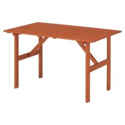 スタンダードガーデンファニチャー 4点セット(テーブル+チェア1脚×2+ベンチ) ≪テーブル≫