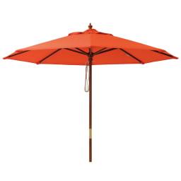 マーケットパラソル 径210・270cm (ウ)オレンジ ※写真は径210cm