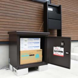 宅配BOX 1BOX P-BOX ピーボ 収納例(収納対応サイズ…幅50奥行40高さ30cm)