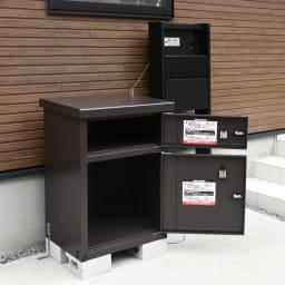 宅配収納BOX 2BOX P-BOX ピーボ 収納サイズ…(下段)幅50奥行40高さ30cm・(上段)幅50奥行30高さ15cm