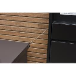 宅配収納BOX 2BOX P-BOX ピーボ ワイヤー(市販・別売)を取り付けることができます。