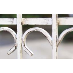 アイアンフェンス&ゲート ゲートセット (イ)ホワイト系 アンティーク調仕上げ。