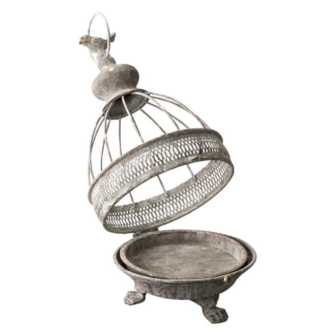 アンティーク風鳥かご蚊やり がばっと開くので取り出しも便利。
