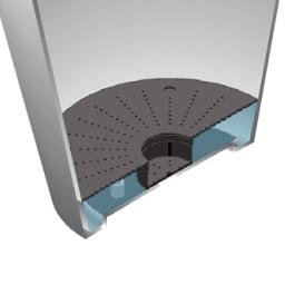 アートストーン軽量スリムプランター M 鉢底に適度に水が溜まり、水やりが簡単。