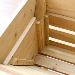 木製菜園プランター ベジトラグ L 商品イメージ ※お届けの色とは異なります。
