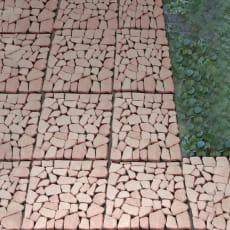 雑草が生えない天然石マット 24枚組