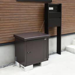 宅配BOX 1BOX P-BOX ピーボ すっきりとしたデザイン。(ブロックは付属しておりません)