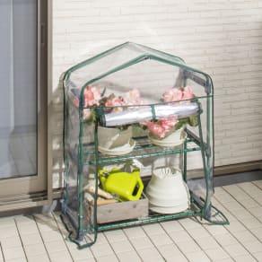 ビニール温室スリム2段 写真