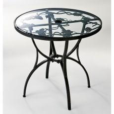 ロートアルミガラス天板ファニチャー ラウンドテーブル