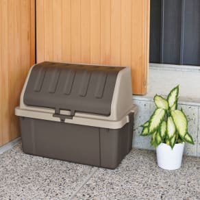 家庭用プラスチック収納庫<ブラウン> 写真