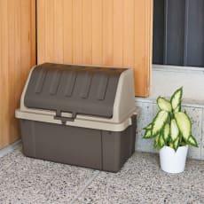 家庭用プラスチック収納庫<ブラウン>