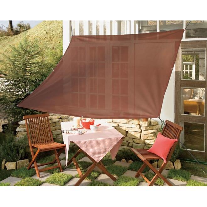遮熱サンシェード 無地タイプ 180×180cm 使用イメージ