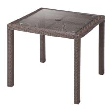 ラタン調 正方形テーブル