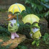 雨降り小鳥 2羽組 写真