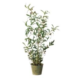 人工観葉植物オリーブ 高さ90cm 鉢カバーなし お届けの商品です