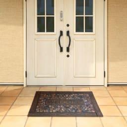 エントランスラバー玄関マット45×75cm (ウ)ウェルカムストーン