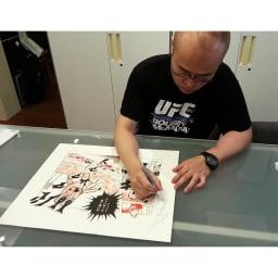 キン肉マン・アート『キン肉マン友情』 中井先生直筆サイン入り