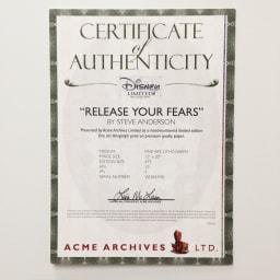 アナと雪の女王 プレミアムアートフレーム(マット付き)縦72×横59.5cm 作品名「Release Your Fears」 安心の証明書付き