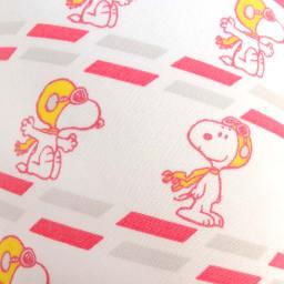 SNOOPY(スヌーピー)/ネックピロー&アイマスクセット フライングエース柄(空気で膨らむ枕) PEANUTS 生地アップ