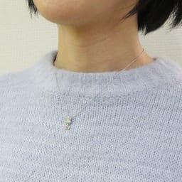 SNOOPY(スヌーピー)/スヌーピー プラチナペンダントトップ クラウン PEANUTS 着用イメージ